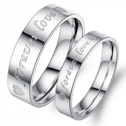 AL0055 BOBIJOO Jewelry Bague Alliance Argenté Forever Love Acier Inox