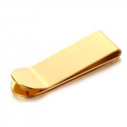 PB0010 BOBIJOO Jewelry Pince à billet Acier Doré à l'Or Fin