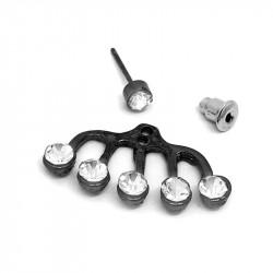 Boucles d'Oreilles Multi-strass bobijoo