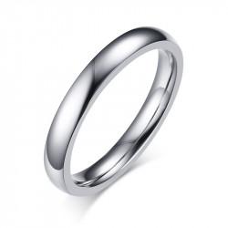 AL0059 BOBIJOO Jewelry Bague Alliance Simple Mixte Acier Inoxydable Argenté 3mm