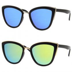 LU0023 BOBIJOO Jewelry Pair of Sunglasses Sixties Cat Eye Pin Up