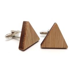 BM0027 BOBIJOO Jewelry Boutons de Manchette Bois Triangle Géométrie