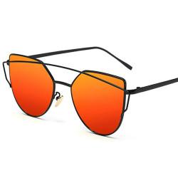 LU0035 BOBIJOO Jewelry Sunglasses-Metal Futuristic Style Black Orange Pink