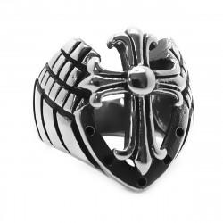 BA0195 BOBIJOO Jewelry Ring Armor Templar Knight Cross Stainless Steel