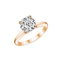 SOL0005 BOBIJOO Jewelry Ring Solitaire Rose Gold Zirconia 7mm 4 claws