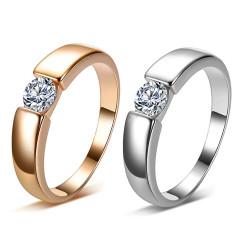 SOL0007 BOBIJOO Jewelry Lonely Alliance Ring Ring Zirconia 5mm