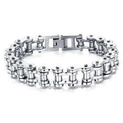 Bracelet Chaine de Moto Acier Chrome Classique bobijoo