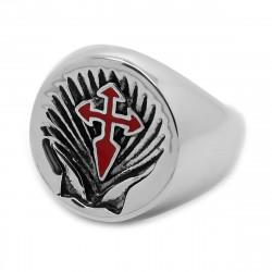 BA0231 BOBIJOO Jewelry Ring Signet ring Cross Sword Saint Jacques de Compostela