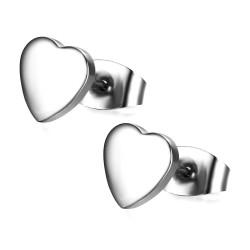 Boucles d'Oreilles Coeur Love Amour Acier bobijoo