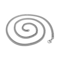 PE0117 BOBIJOO Jewelry Chaîne Maille Gourmette 60cm 4mm Acier Inoxydable